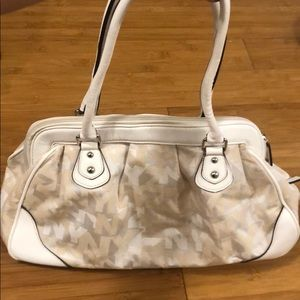 New York & Company White Handbag